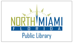 north Miami library logo